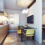 modern kitchen interior 3d render
